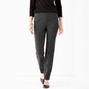J Jill Ponte Slim Fit Gray Pull On Stretch Pants